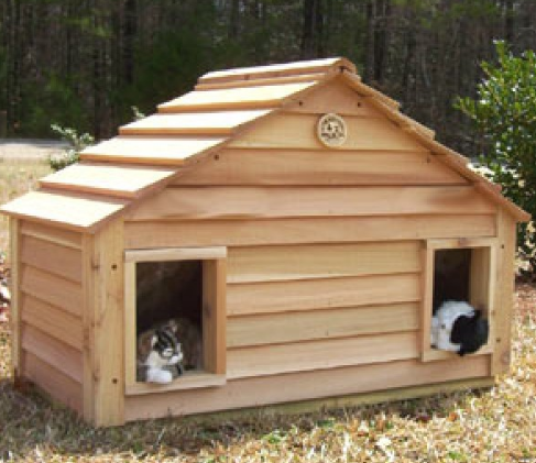 cedar-duplex-cat-house