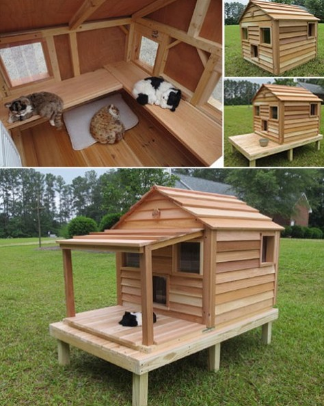 Outdoor cat house outside heated cat shelter for cold weather - Tarima bricor ...