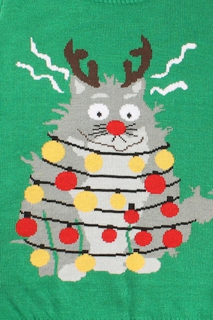 Christmas Cat Sweater.Cat Christmas Sweater Ugly Christmas Sweaters For The Family